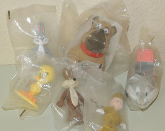 6 Vintage Fast Food toys in the Original bags