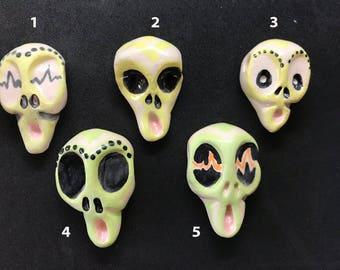 Feel Like An Alien MyndMonster ceramic bead. Hand-sculpted ceramic modern-day talisman.