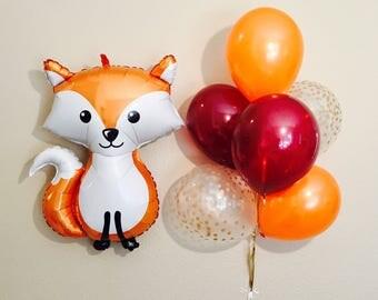 Woodland Fox, Woodland Balloons, Woodland Baby Shower, Woodland Birthday Party, Woodland Animal Party, Woodland Birthday, Forest Friends