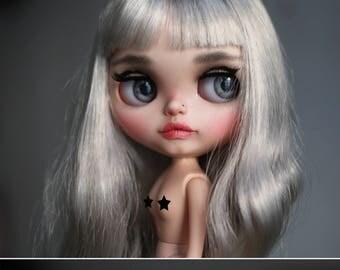 Eline Rabbit - custom Blythe doll - ooak blythe - unique art doll by KarolinFelix