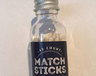 MATCHSTICKS Matches Bottle Favor