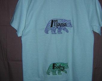 Mama Bear / Baby Bear Tee shirt