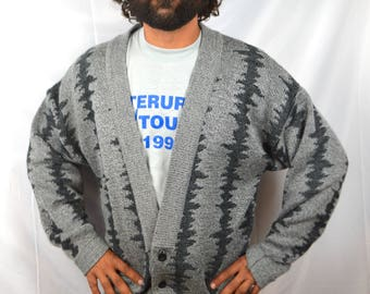Vintage 80s Jed Gray 80s Cardigan Saved by the Bell Sweater