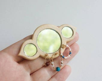 Mini Vanity Mirrors - miniature mirror, modern dollhouse furniture, minimalist furniture, miniature jewelry, 1:12 scale