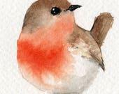 Little Red Robin - original watercolour