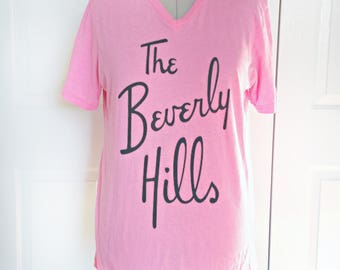 The Beverly Hills Hotel Vintage Hot Pink 1980s 1990s Tee Shirt