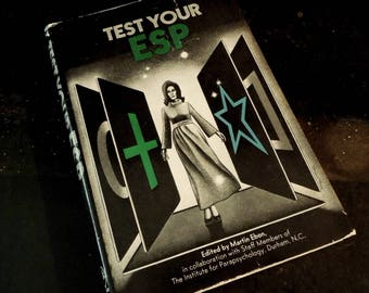 Test Your ESP Vintage Book -Occult Psychic Parapsychology Extrasensory Perception Supernatural Astrological