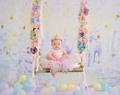 Rainbow Unicorn Baby Girl 1st Birthday Outfit Baby Tutu Tutu Dress Birthday Dress Baby Girls Cake Smash Outfits Pegasus Birthday Tutus