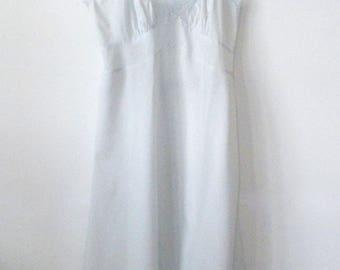 Vintage Ladies Slip • Pretty Pale Blue Slip with Lacey Trim