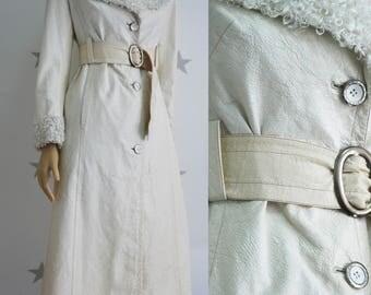 Vintage leather like coat, patent leather like, female vintage coat, vintage overcoat, fake leather, vegan leather