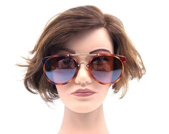 90s sunglasses. round sunglasses. tortoise shell. gold metal sunglasses. deadstock vintage. 1990s. sun glasses. polarized sunglasses. 212