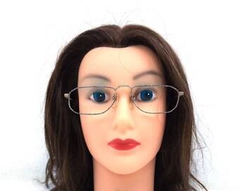 deadstock vintage. metal eyeglasses. marble pattern. square eyeglasses. reading glasses. scrollwork. vintage eyeglasses. 80s eyeglasses. 290