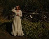 Gunne Sax Dress / Gunnie Sax Dress / Eyelet Lace / Wedding Dress / Boho Dress / 70s / 1970s / Cotton/ Folk / Dress / Bohemian Dress /