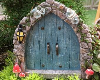 Mini Door, Cobblestone Blue Fairy Door, #4592, Miniature Gardening, Fairy Garden Accessory, Home and Garden Decor, Garden Supply