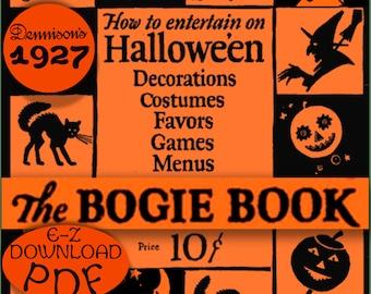 Bogie Book Dennison 1926 HALLOWEEN 1920s PARTY Planner ebooklet pdf download