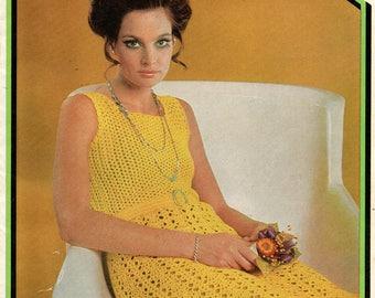 Patons 944 Womens Vintage 1970s Crochet pattern Booklet Lacy Dresses Tops Pants Suit Cardigans ORIGINALS NOT PDF