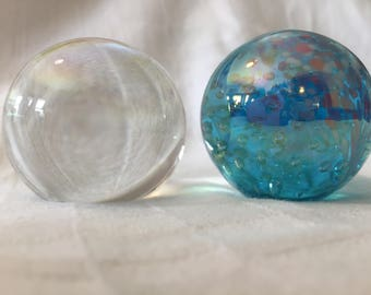 1980's Art Glass Paper Weights (two)