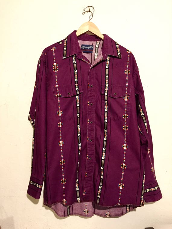 Wrangler South Western Print Button Up Shirt