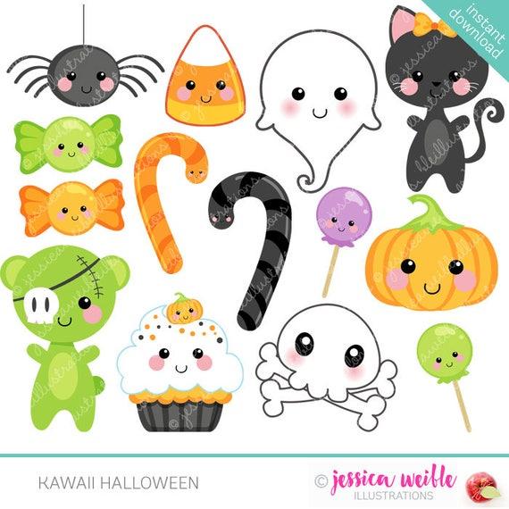 Kawaii Halloween Cute Digital Clipart Commercial Use OK (570 x 570 Pixel)