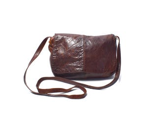 Soft Brown Leather Purse, Everyday Size