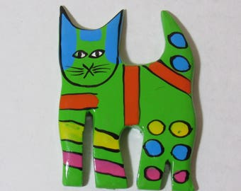 Colorful Cat Magnet