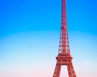 Paris Print, Eiffel Tower Photo, French decor, Paris wall art, Cityscape, Travel Photography, French Flag, wanderlust, gift for traveler