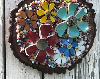 Wooden Wall Flower