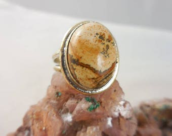 Brown Jasper Sterling Silver Ring