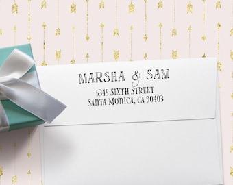 Self-Inking Return Address Stamp, Wood Handle Return Address Stamp, Return Address Stamp, Address Stamp, Custom Stamp, Wedding Stamp 20534