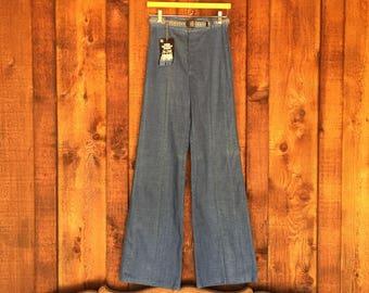 Vintage DEADSTOCK Wide Leg High Waist Denim Pant