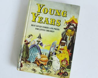 "1960 ""Young Years"" Child's Reader, Children's Storybook, Mid Century School Book"