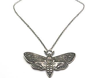 Sterling Silver Death's Head Hawk Moth