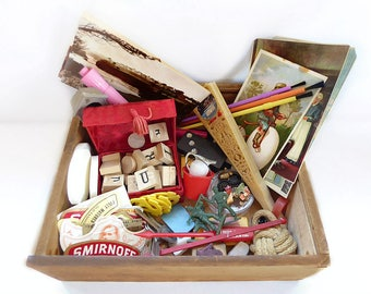Odds & Ends Junk Drawer Lot Found Objects