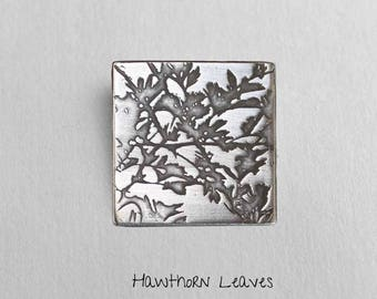 Hawthorn leaves - Photoetched -  Made To Order