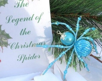 Christmas Spider Ornament Folk Art Legend of Tinsel and Garland