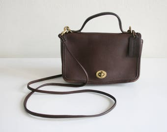 Brown Small Handle Coach Satchel
