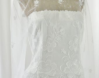 McClintock Wedding Gown White Rayon Tag Attached Size 12