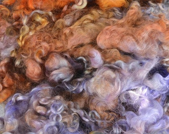 Wensleydale Long Wool Locks for Spinning and Felting Fiber- Colorway Moon Shadows