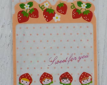 Cute strawberry cookie bags pack of 20 plastic baggies organize design gift craft birthday wedding candy favors self seal - Lillibon