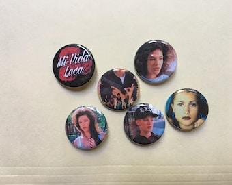 Mi Vida Loco Pin Set Pinback Button Pin Badge x6
