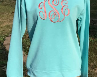 YOUTH Monogrammed Comfort Colors Sweatshirt