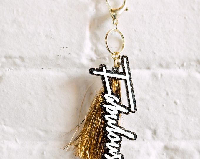 Fabulous Keychain, 1 CT with Gold Key Lobster Claw Clasps and Key Ring