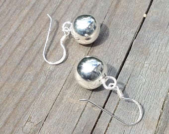 Silver jewelry set, silver earrings and necklace jewelry, silver  necklace and earrings jewelry, jewelry gift, silver ball jewelry set