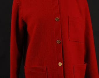 Chanel Boutique Red Wool Jacket, France