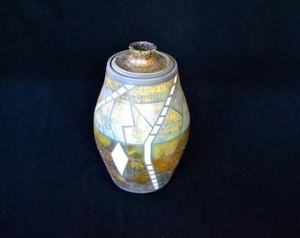 Raku Lidded Jar