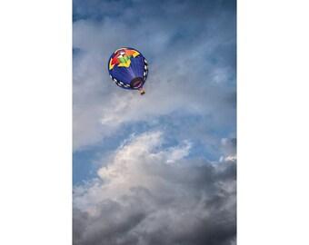 Up, Up, and Away Hot Air Balloon at the Battle Creek Michigan Balloon Festival No.7015 A Fine Art Aviation Photograph