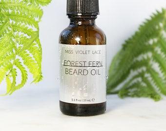 Forest Fern Beard Oil   100% natural and vegan beard oil   Men's Grooming - TRAVEL SIZE