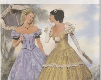 Southern Belle Dress Civil War Era Gown Reenactment Misses Size 12 - 14 - 16 Uncut Butterick 6195