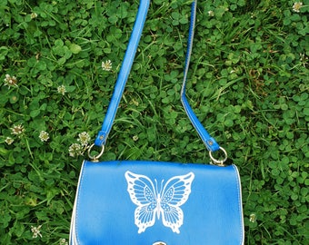 Girls' purse, handbag with butterfly print