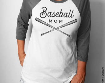 Baseball Mom Shirt - Baseball Shirt - Raglan Shirt - Moms Birthday ,Baseball mom Top,Sport Mom Gift,Baseball Mom Gift, Baseball Raglan Shirt